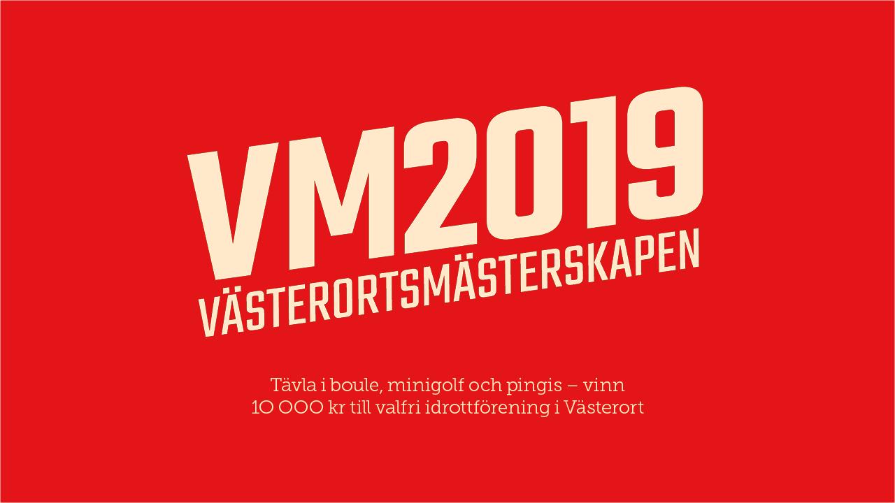 5a3e03ead4a5 Anmäl dig och dina vänner till Västerortsmästerskapen 2019 – en tävling där  tolv stadsdelar längs gröna linjen möter varandra i boule, minigolf och  pingis.